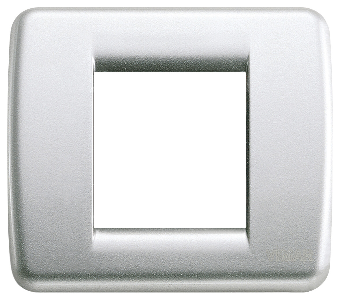 Накладка для 1-2 модулей RONDO металл металлик серебрянный