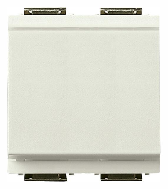 Выключатель 1P 16AX на 2 модуля, белый