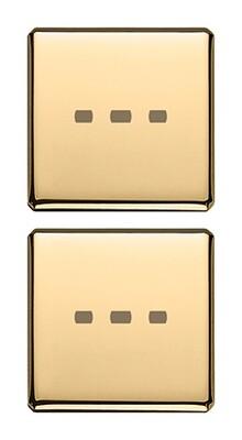 Две плоские клавиши без символов, золото