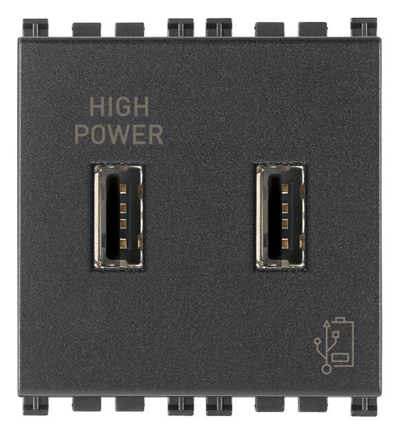 Зарядное устройство с разъемом USB 5V 2,1A, серое