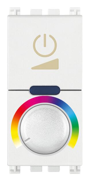 Выключатель с диммированием освещения RGB 230V, белый