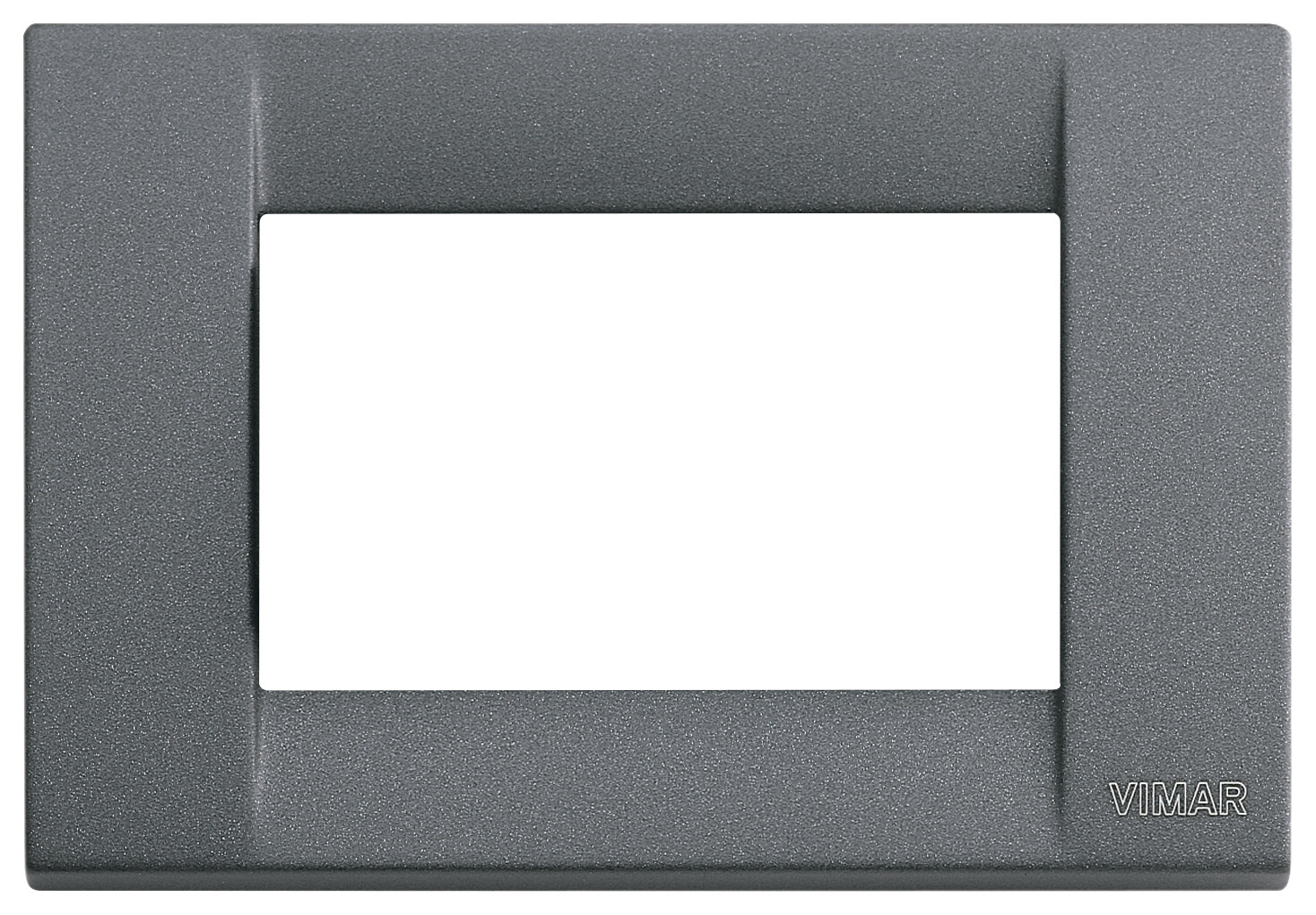 Накладка для 3 модулей металл серый шифер