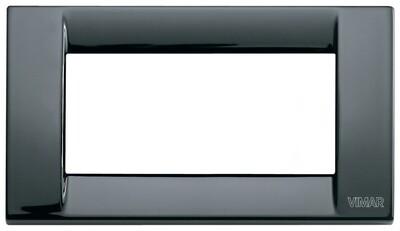 Накладка для 4 модулей металл черная