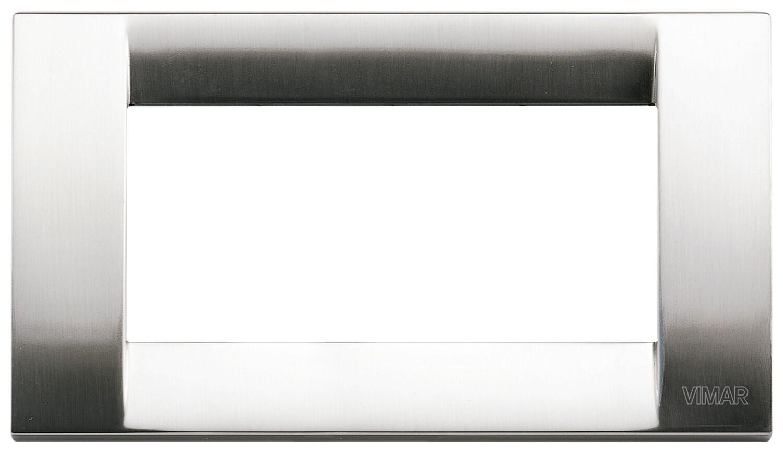 Накладка для 4 модулей металл никель