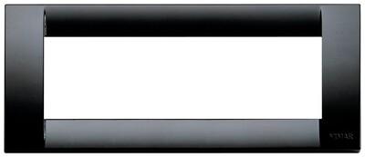 Накладка для 6 модулей пластик черный