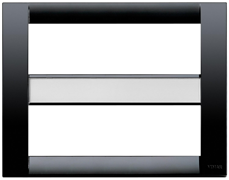 Накладка для 12 (6+6) модулей пластик черный