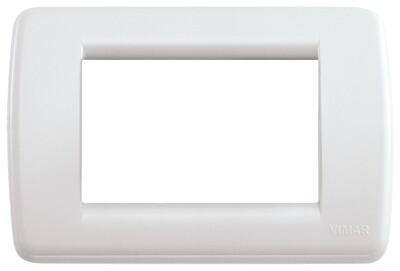 Накладка для 3 модулей RONDO пластик белый IDEA