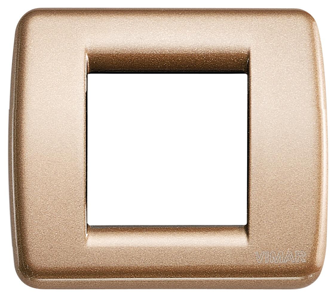 Накладка для 1-2 модулей RONDO металл металлик бронзовый