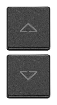 """Две плоские клавиши, символы """"стрелки"""", антрацит"""
