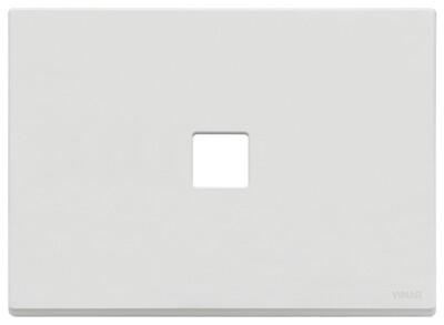 Накладка, 3 мод на 1 кн., белая матовая
