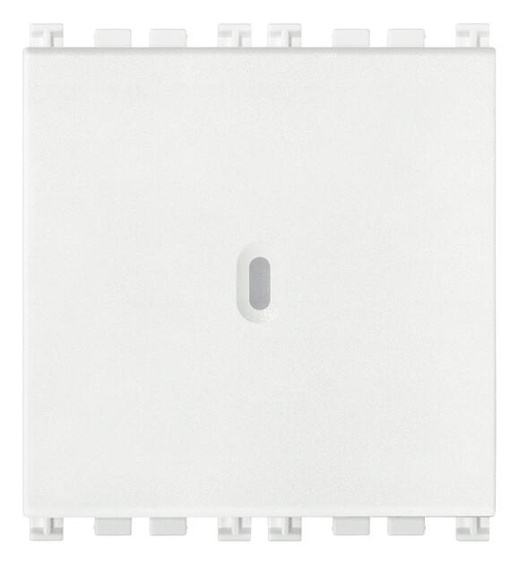 Переключатель с 4-мя контактами ( инвертор ) 1P осевой 16AX 2M, белый