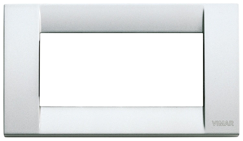 Накладка для 4 модулей металл металлик серебрянный