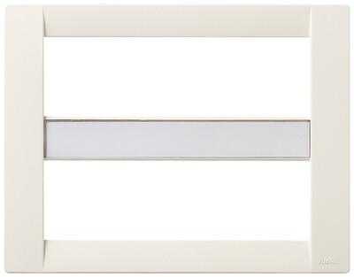 Накладка для 12 (6+6) модулей пластик белый IDEA