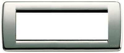 Накладка для 6 модулей RONDO металл хром