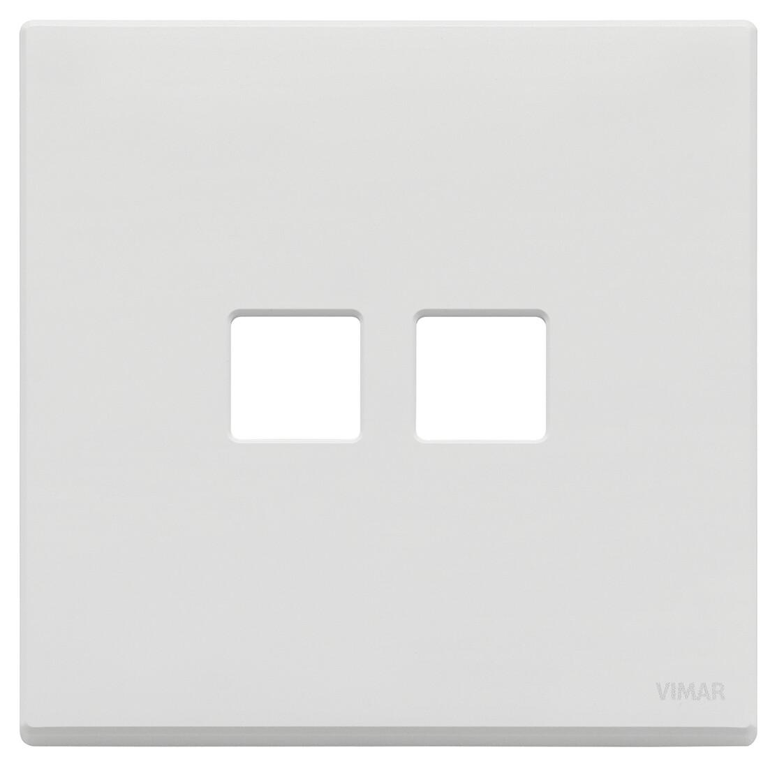 Накладка, 2 мод на 2 кн., белая матовая
