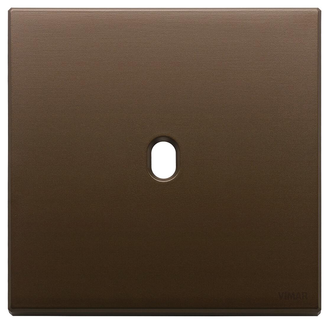 Накладка, 2 мод на 1 выкл., брошированная темная бронза