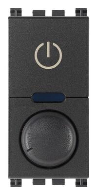 Выключатель с диммированием освещения поворотный ведущий 230V универсальный, серый
