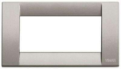Накладка для 4 модулей металл металлик титановый