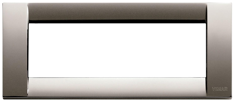 Накладка для 6 модулей металл черный хром