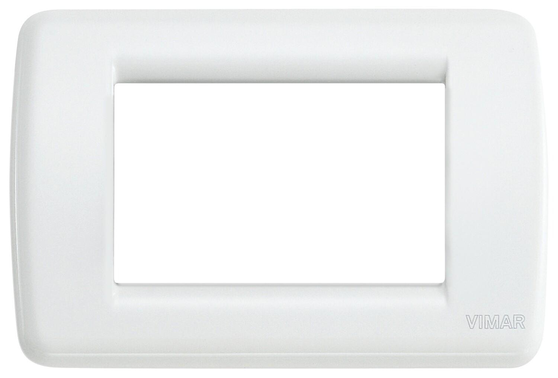 Накладка для 3 модулей RONDO металл белая