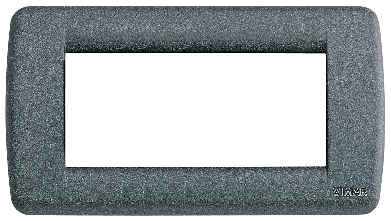 Накладка для 4 модулей RONDO металл серый шифер