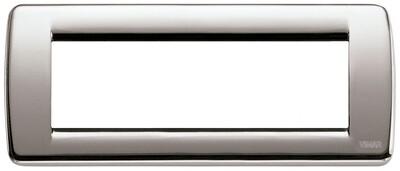 Накладка для 6 модулей RONDO металл никель