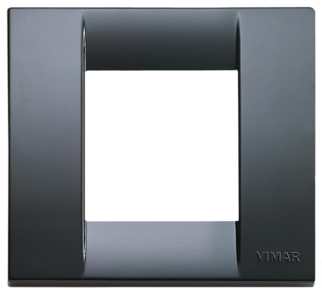 Накладка для 1-2 модулей пластик графитовый серый