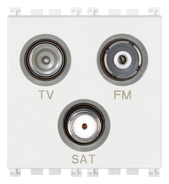 Розетка tv-fm-sat концевая 3 выходами