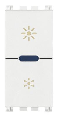 Выключатель с диммированием освещения ведущий 230V универсальный, белый