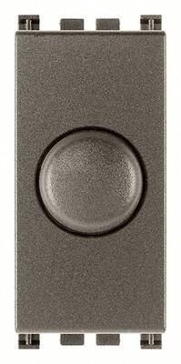Выключатель с диммированием освещения поворотный 230v 100 - 500w, metal