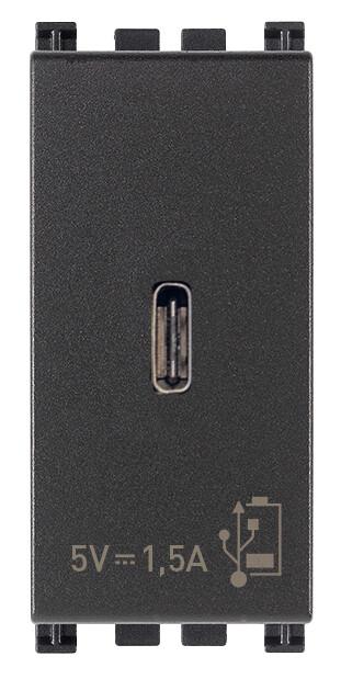 ЗарядноеустройствосразъемомUSBC5V1,5A,1модуль,серое