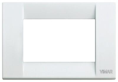 Накладка для 3 модулей металл белая