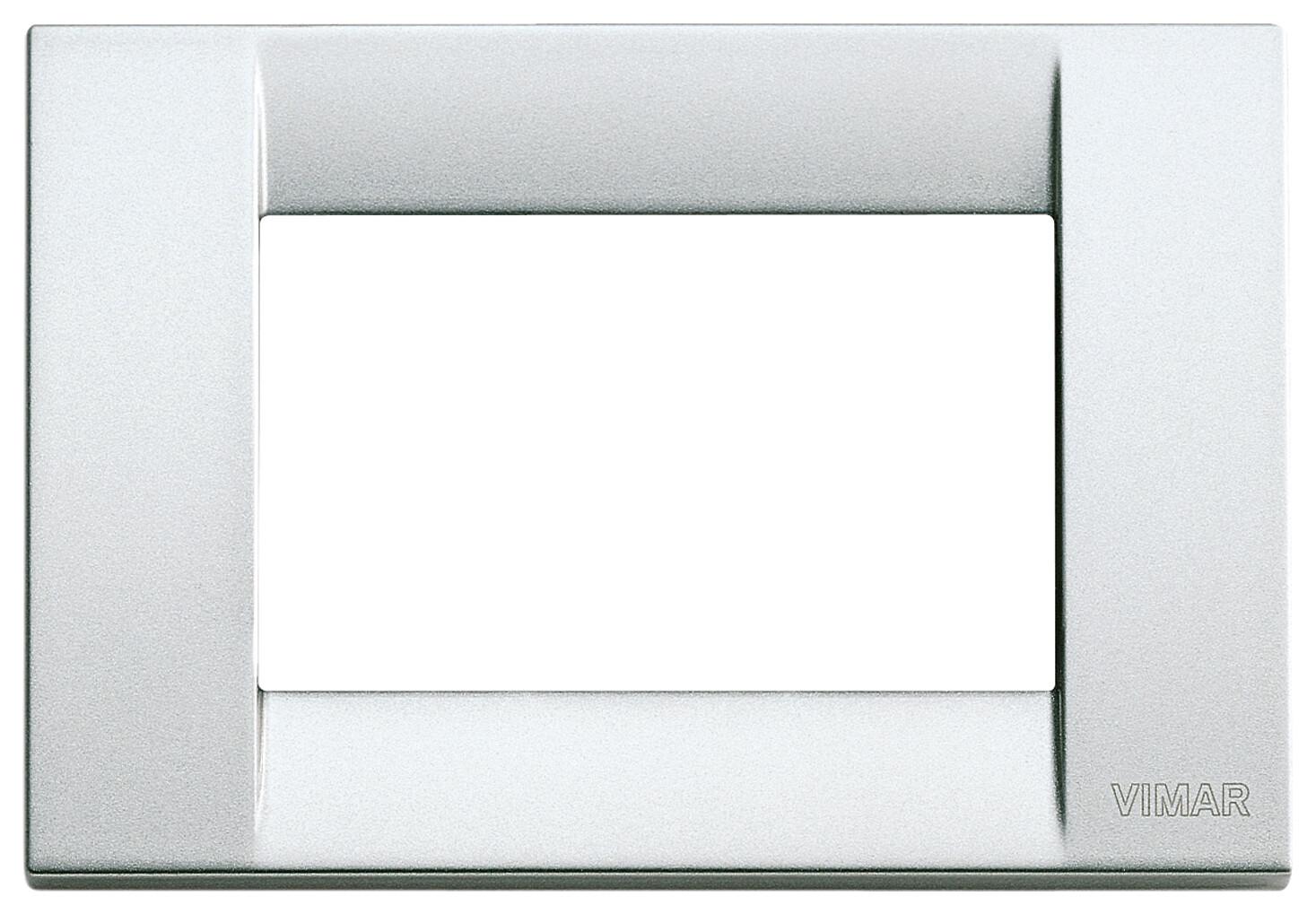 Накладка для 3 модулей металл металлик серебрянный