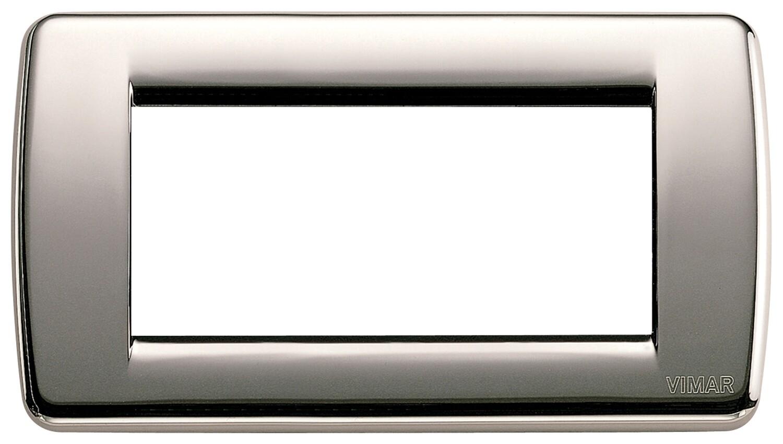 Накладка для 4 модулей RONDO металл черный хром
