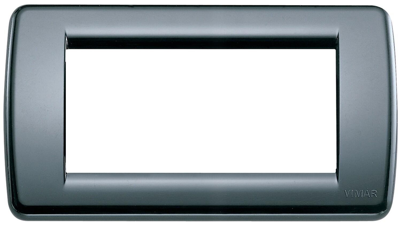 Накладка для 4 модулей RONDO пластик графитовый серый