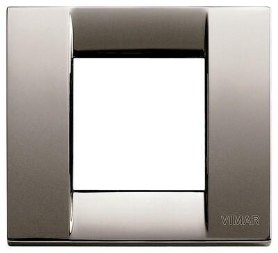 Накладка для 1-2 модулей металл черный хром
