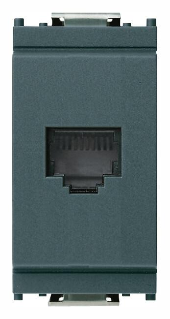 Розетка для штекера RJ11 серая