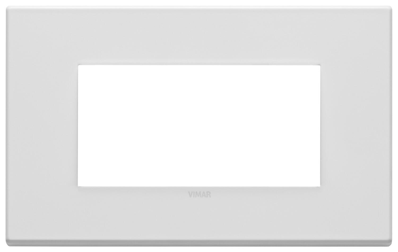 Накладка на 4 модуля, белая матовая
