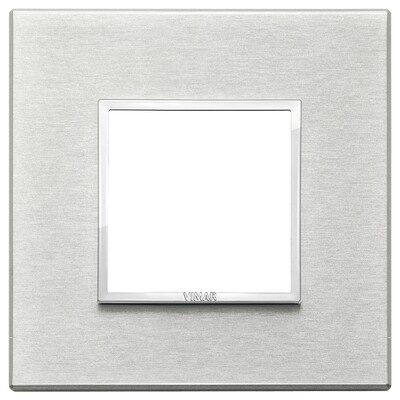 Накладка Evo на 2 модуля, серый серебристый