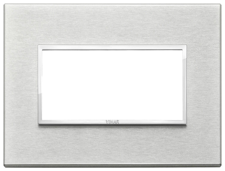 Накладка Evo на 4 модуля, серый серебристый