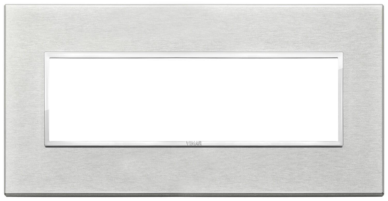 Накладка Evo на 7 модулей, серый серебристый