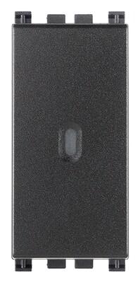 Переключатель с 4-мя контактами ( инвертор ) 1P осевой 16AX  , серый