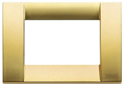 Накладка для 3 модулей металл матовое золото