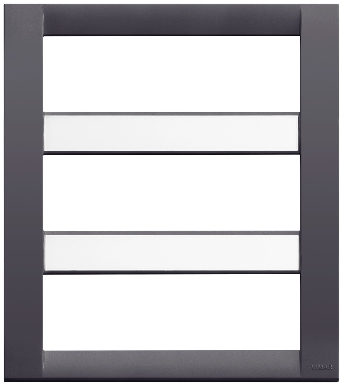 Накладка для 18 (6+6+6) модулей серый IDEA