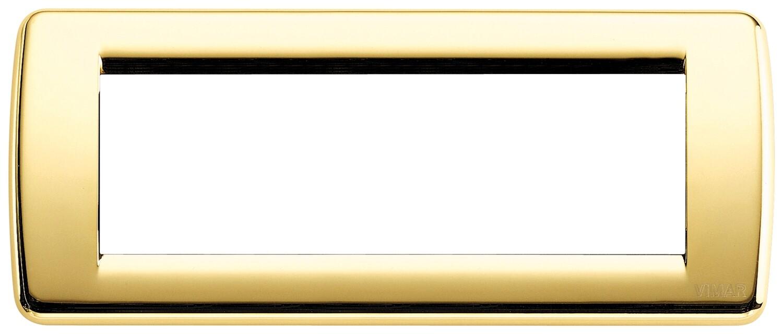 Накладка для 6 модулей RONDO металл блестящее золото