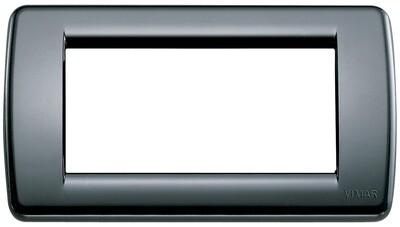 Накладка для 4 модулей RONDO пластик черный