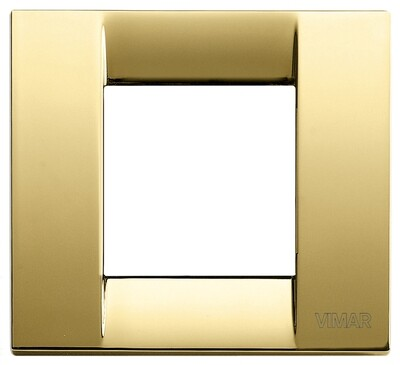 Накладка для 1-2 модулей металл блестящее золото