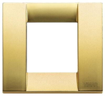 Накладка для 1-2 модулей металл матовое золото