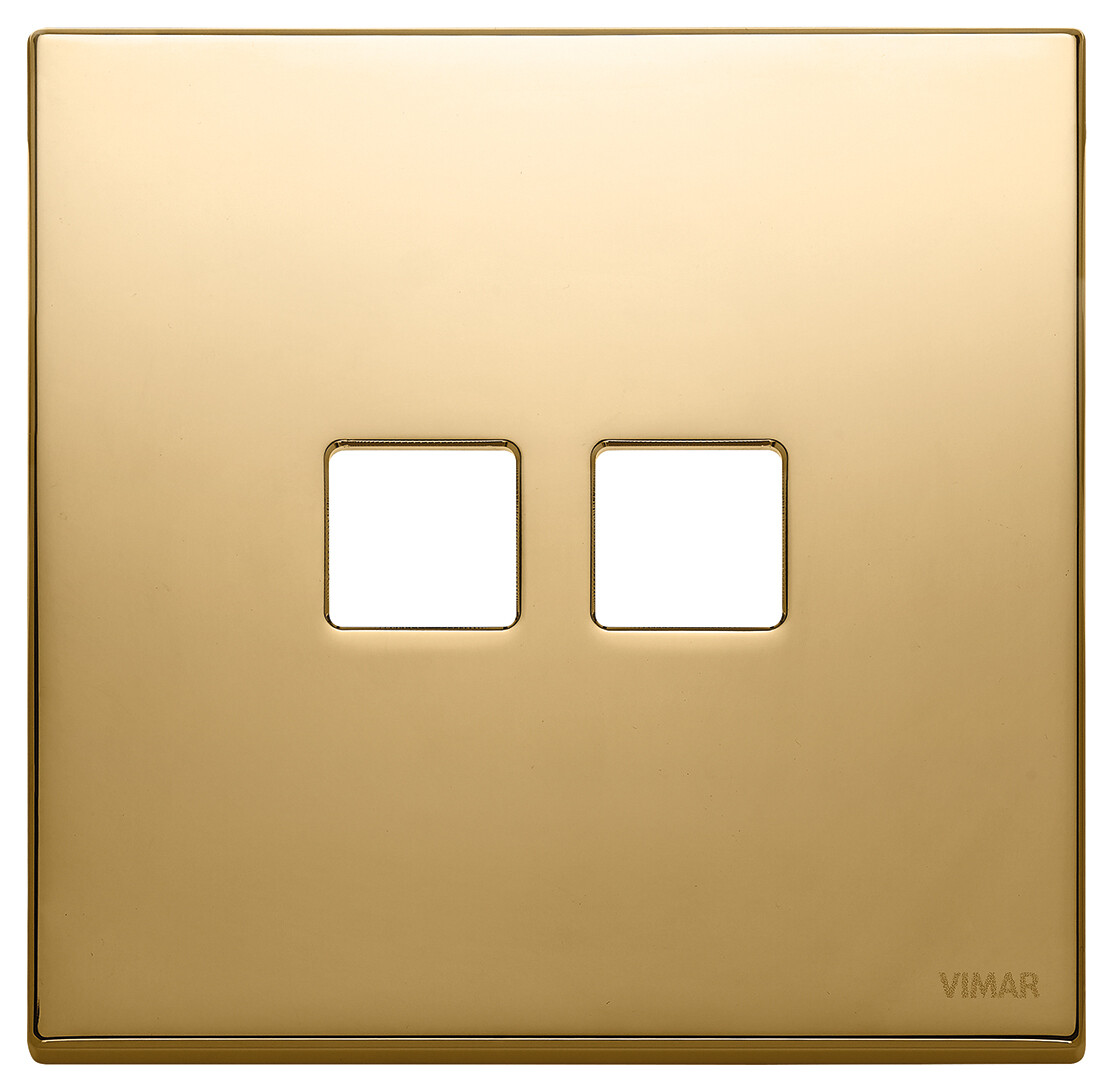 Накладка, 2 мод на 2 кн., золото