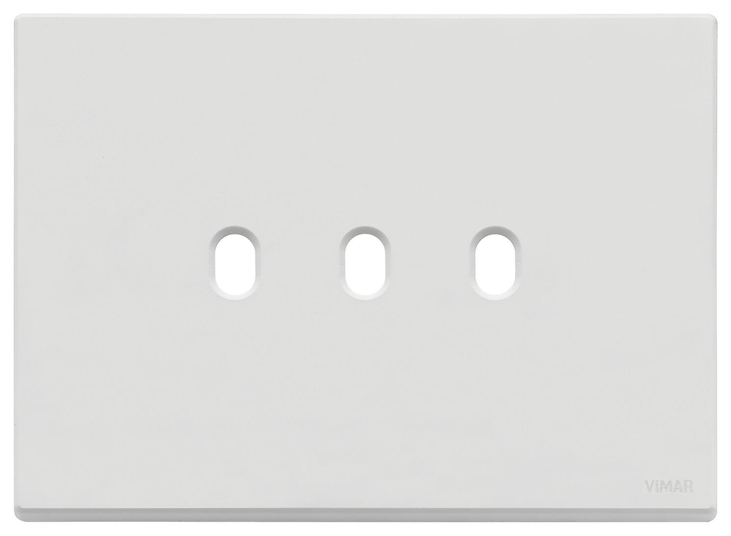 Накладка, 3 мод на 3 выкл., белая матовая